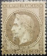 FRANCE Y&T N°30a Napoléon 30c Brun Clair. Oblitéré étoile De Paris - 1863-1870 Napoleon III With Laurels