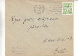 Lettonie - Lettre De 1940 ° - Oblit Riga - Exp Vers Riga Pasta Tekosu  ? - Lettland