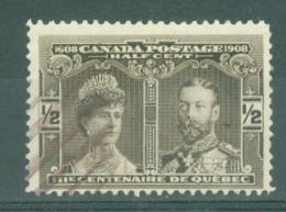 Canada: 1908   Quebec Tercentenary    SG188    ½c      Used - 1903-1908 Règne De Edward VII