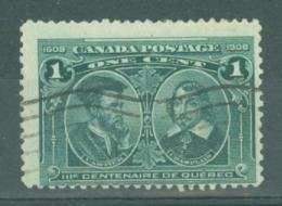 Canada: 1908   Quebec Tercentenary    SG189    1c      Used - 1903-1908 Règne De Edward VII