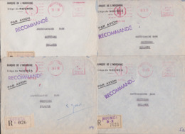 Nouvelle-Calédonie Nouméa Banque Indochine Lot De 15 Enveloppes Recommandées Par Avion Lettre EMA Année 1960 Amsterdam - Briefe U. Dokumente