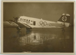 (Aviation) Avion Allemand Junkers Ju 52 De Propagande Pour Les Jeux Olympiques De Berlin 1936 . - Aviation