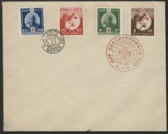 """1939 Japan First Day Red Commemorative Cancellation On """"75th Anniversary Of Red Cross Treaty"""" Full Serie (C75 To C78) - Covers & Documents"""