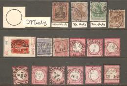 16 Timbres ( Allemagne / Oblitération Metz ) - Allemagne