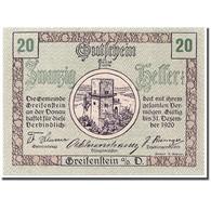 Billet, Autriche, Greifenstein N.Ö. Gemeinde, 20 Heller, Tour 1, 1920 - Austria