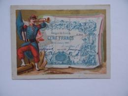 CHROMO BILLET De BANQUE De FRANCE 100 Francs 9 Décembre 1880 Militaire Clairon Infanterie Poilu - Other