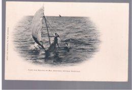 TANZANIA Zanzibar Fuite D'un Esclave En Mer Ca 1905 Old Postcard - Tanzania
