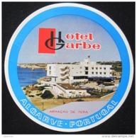 HOTEL PENSAO RESIDENCIAL GARBE ALGARVE TAG DECAL STICKER LUGGAGE LABEL ETIQUETTE AUFKLEBER PORTUGAL - Etiketten Van Hotels