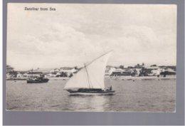 TANZANIA Zanzibar From Sea Ca 1920 Old Postcard - Tanzania