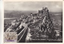 Saint Marin - Carte Postale De 1949 - Oblit Republica San Marino - Carte Maximum  ? - Briefe U. Dokumente