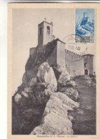 Saint Marin - Carte Postale De 1949 - Oblit Republica Di San Marino - Carte Maximum  ? - Saint-Marin