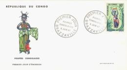 CONGO. FDC. CONGOLEAN DOLL. 1967 - FDC