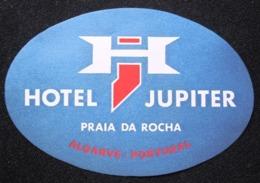 HOTEL PENSAO RESIDENCIAL JUPITER ALGARVE PLAYA DA ROCHA TAG DECAL STICKER LUGGAGE LABEL ETIQUETTE AUFKLEBER PORTUGAL - Hotel Labels