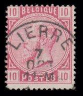 """COB N° 38 - Belle Oblitération S.C. """"LIERRE"""" - 1869-1883 Léopold II"""