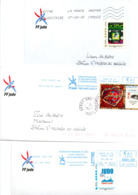JUDO Lot De 3 Enveloppes Timbres Personnalisés - Judo