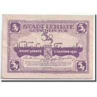 Billet, Allemagne, Lehrte, 5 Pfennig, Usine, 1921, 1921-01-01, SPL, Mehl:L30.1a - Andere