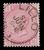 "COB N° 38 - Belle Oblitération S.C. ""LILLO"" - 1869-1883 Léopold II"