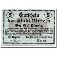 Billet, Allemagne, Rinteln, 5 Pfennig, Graphique, 1918, 1918-02-02, SPL - Andere