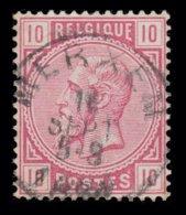 "COB N° 38 - Belle Oblitération S.C. ""MERXEM"" - 1869-1883 Léopold II"