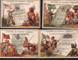 """Cambrai (59 Nord) Lot De 8 Chromos  CHICOREE CASIEZ ET BOURGEOIS:""""au Dernier Tambour"""" DOC HISTORIQUES (PPP20734) - Other"""