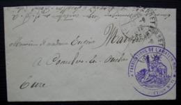 Levallois-Perret 1917 Fabrication De L'aviation Militaire Inspection N°11 Cachet Sur Petite Lettre Pour Conches En Ouche - Storia Postale