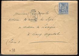 LETTRE EN PROVENANCE DE GANGES - HÉRAULT - 1901 - - 1876-1878 Sage (Tipo I)