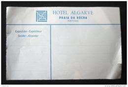 HOTEL PENSAO RESIDENCIAL ESTALAGEM POUSADA ALGARVE PRAIA ROCHA TAG STICKER LUGGAGE LABEL ETIQUETTE AUFKLEBER PORTUGAL - Etiketten Van Hotels