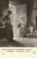 Salon Des Femmes Peintres Mlle P VALLAYER MOUTET  Conversation RV TP98 - Peintures & Tableaux