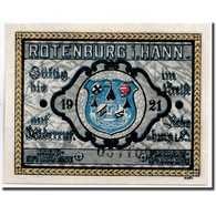 Billet, Allemagne, Rotenburg I Hann, 25 Pfennig, Ecusson, 1921, SPL, Mehl:1139.1 - Andere