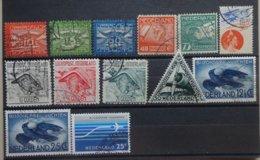 NEDERLAND   Luchtpost 1921-66   Lp 1 - 3 : 4 - 5 / 6 - 8 / 9 - 10 En 11 - 14 En 15         Gestempeld    CW 24,50 - Airmail