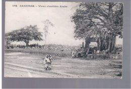 TANZANIA Zanzibar Vieux Cimetière Arabe Ca 1920 Old Postcard - Tanzania