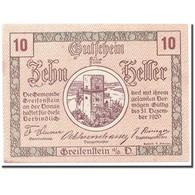 Billet, Autriche, Greifenstein N.Ö. Gemeinde, 10 Heller, Tour 1, 1920 - Austria