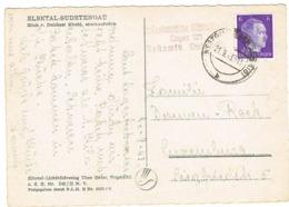 Occupation Elbetal -Sudetengau Cachet,env,Luxembourg - 1940-1944 German Occupation