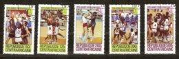 Centrafricaine 1979 Yvertnr. 404-408 (o) Oblitéré Cote 3,75 €  Sport Basket-ball Année Préolympique - Zentralafrik. Republik