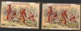 """Cambrai (59 Nord) Lot De 2 Chromos  CHICOREE CASIEZ ET BOURGEOIS:""""au Dernier Tambour"""" BOUVINES (PPP20735) - Other"""