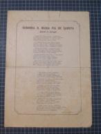 Cx 9) Ephemera Portugal Rainha D. Maria Pia  Poema De Luiz De Campos Sabóia Monarquia /rasgado Nas Margens - Vieux Papiers