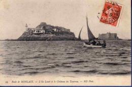 29 PLOUEZOC'H CARANTEC L'ile Louet Et Le Château Du Taureau ; Chalutier - Animée - Sonstige Gemeinden