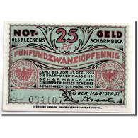 Billet, Allemagne, Scharmbeck Stadt, 25 Pfennig, Ecusson, 1920, 1920-12-01, SPL - Andere