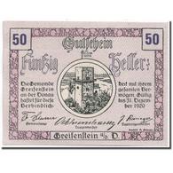 Billet, Autriche, Greifenstein N.Ö. Gemeinde, 50 Heller, Tour, 1920 - Austria