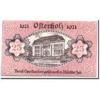Billet, Allemagne, Osterholz, 25 Pfennig, Batiment, 1921, 1921-05-31, SPL - Andere