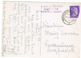 Occupattion  Cachet Aussig.1943 Env, Luxembourg - 1940-1944 German Occupation