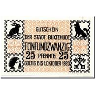 Billet, Allemagne, Buxtehude, 25 Pfennig, Animaux, O.D, SPL, Mehl:B108.1 - Andere