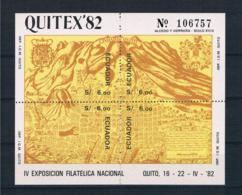 Ecuador 1982 Block 107 ** - Ecuador