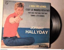 JOHNNY HALLYDAY MAXI SINGLE L'IDOLE DES JEUNES C'EST LE MASHED POTATOES COMME L'ETE DERNIER. - 45 Rpm - Maxi-Single