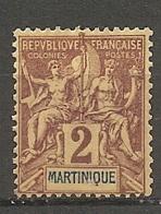 MART - Yt. N° 32  (*)  2c    Cote  2 Euro  BE  2 Scans - Martinique (1886-1947)