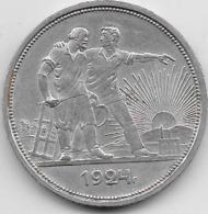 Russie - 1 Rouble - 1924 - Argent - Russie