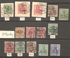 14 Timbres ( Allemagne / Oblitération Metz  ) - Oblitérés