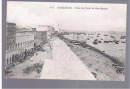 TANZANIA Zanzibar Vue Du Port Et Des Quais Ca 1910 Old Postcard - Tanzania