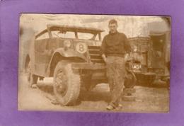 MILITARIA Militaire Devant M3 Scout Car ( White Motor Compagny ) CARTE PHOTO - Equipment