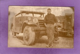 MILITARIA Militaire Devant M3 Scout Car ( White Motor Compagny ) Engin Blindé CARTE PHOTO - Ausrüstung